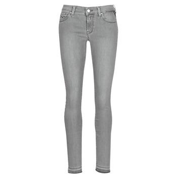 衣服 女士 紧身牛仔裤 Replay LUZ 灰色