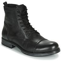 鞋子 男士 短筒靴 Jack & Jones 杰克琼斯 JFW RUSSEL LEATHER 黑色