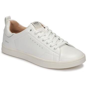 鞋子 女士 球鞋基本款 Only SHILO PU 白色 / 银灰色