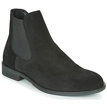 鞋子 男士 短筒靴 Selected 思莱德 LOUIS SUEDE CHELSEA 黑色