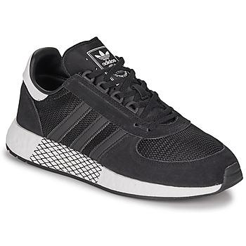 鞋子 男士 球鞋基本款 Adidas Originals 阿迪达斯三叶草 MARATHON TECH 黑色