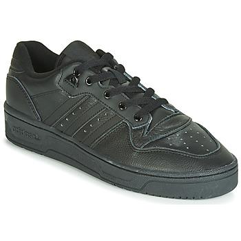 鞋子 男士 球鞋基本款 Adidas Originals 阿迪达斯三叶草 RIVALRY LOW 黑色