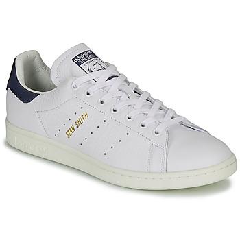 鞋子 球鞋基本款 Adidas Originals 阿迪達斯三葉草 STAN SMITH 白色 / 藍色