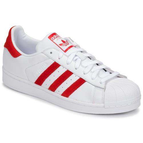 鞋子 球鞋基本款 Adidas Originals 阿迪达斯三叶草 SUPERSTAR 白色 / 红色