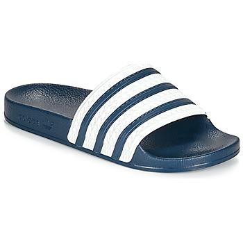 鞋子 拖鞋 Adidas Originals 阿迪达斯三叶草 ADILETTE 蓝色 / 白色