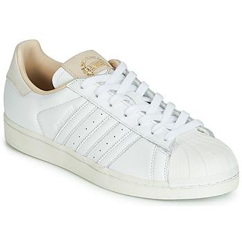 鞋子 球鞋基本款 Adidas Originals 阿迪达斯三叶草 SUPERSTAR 白色 / 米色