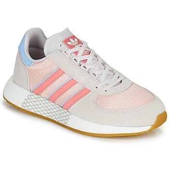 鞋子 女士 球鞋基本款 Adidas Originals 阿迪达斯三叶草 MARATHON TECH W 灰色 / 玫瑰色