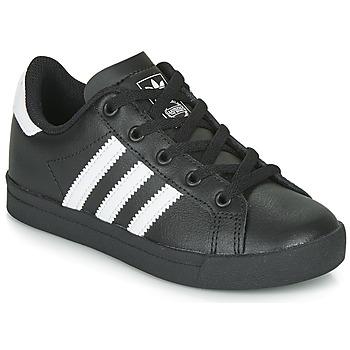 鞋子 兒童 球鞋基本款 Adidas Originals 阿迪達斯三葉草 COAST STAR C 黑色 / 白色
