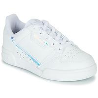 鞋子 兒童 球鞋基本款 Adidas Originals 阿迪達斯三葉草 CONTINENTAL 80 C 白色 / 藍色