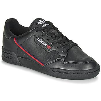 鞋子 儿童 球鞋基本款 Adidas Originals 阿迪达斯三叶草 CONTINENTAL 80 J 黑色