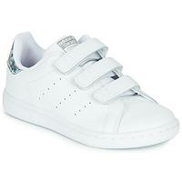 鞋子 女孩 球鞋基本款 Adidas Originals 阿迪達斯三葉草 STAN SMITH CF C 白色 / 銀色