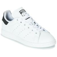 鞋子 兒童 球鞋基本款 Adidas Originals 阿迪達斯三葉草 STAN SMITH J 白色 / 黑色