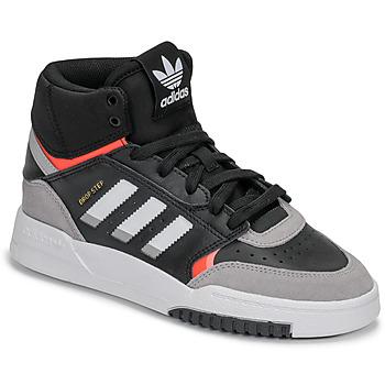 鞋子 男孩 高帮鞋 Adidas Originals 阿迪达斯三叶草 DROP STEP J 黑色 / 灰色