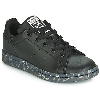 鞋子 儿童 球鞋基本款 Adidas Originals 阿迪达斯三叶草 STAN SMITH C 黑色