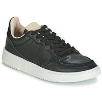 鞋子 儿童 球鞋基本款 Adidas Originals 阿迪达斯三叶草 SUPERCOURT J 黑色