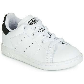 鞋子 儿童 球鞋基本款 Adidas Originals 阿迪达斯三叶草 STAN SMITH EL I 白色 / 黑色