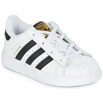 鞋子 儿童 球鞋基本款 Adidas Originals 阿迪达斯三叶草 SUPERSTAR I 白色 / 黑色