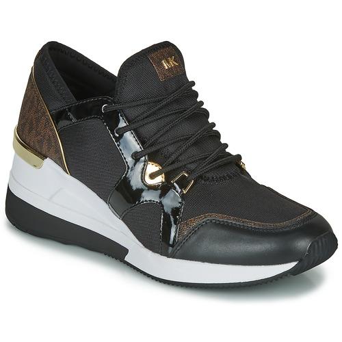 鞋子 女士 球鞋基本款 Michael by Michael Kors LIV TRAINER 黑色 / 棕色