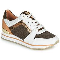 鞋子 女士 球鞋基本款 Michael by Michael Kors BILLIE TRAINER 白色 / 棕色