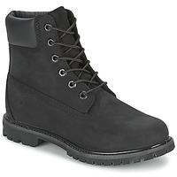 鞋子 女士 短筒靴 Timberland 添柏岚 6IN PREMIUM BOOT - W 黑色