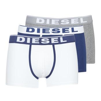 內衣  男士 拳擊 Diesel 迪賽爾 DAMIEN 白色 / 海藍色 / 灰色