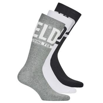 配件 男士 短筒袜 Diesel 迪赛尔 SKM-RAY-THREEPACK-0QATV-E3843 黑色 / 灰色 / 白色