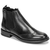 鞋子 男士 短筒靴 Carlington 卡尔顿 LEVOTO 黑色