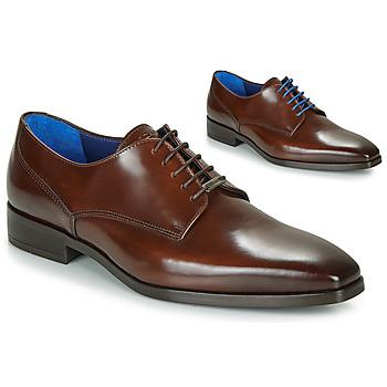 鞋子 男士 德比 Azzaro 阿莎露 POIVRE 棕色