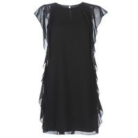 衣服 女士 短裙 Lauren Ralph Lauren RUFFLED GEORGETTE DRESS 黑色