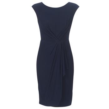衣服 女士 短裙 Lauren Ralph Lauren RUCHED CAP SLEEVE DRESS 海蓝色