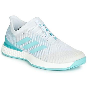 鞋子 女士 跑鞋 adidas Performance 阿迪达斯运动训练 ADIZERO UBERSONIC 3M X PARLEY 白色 / 蓝色