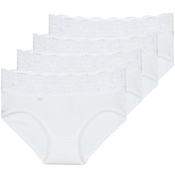 内衣  女士 底裤 Sloggi ROMANCE X 4 白色