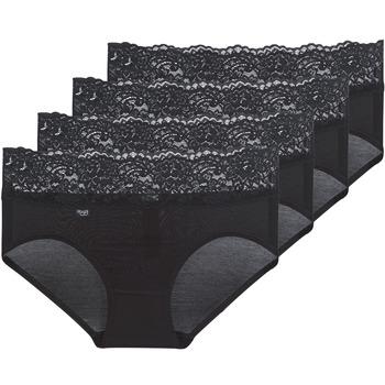 内衣  女士 底裤 Sloggi ROMANCE X 4 黑色