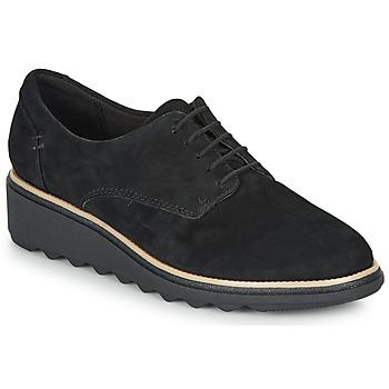 鞋子 女士 德比 Clarks 其乐 SHARON NOEL 黑色