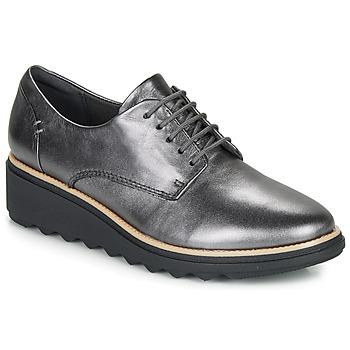 鞋子 女士 德比 Clarks 其乐 SHARON NOEL 银色