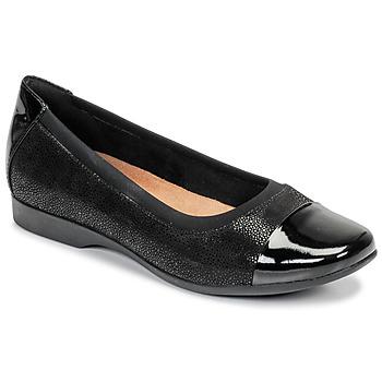 鞋子 女士 平底鞋 Clarks 其樂 UN DARCEY CAP 黑色