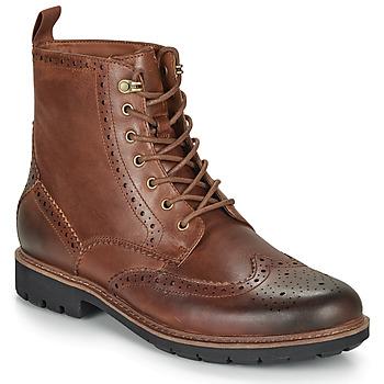 鞋子 男士 短筒靴 Clarks 其乐 BATCOMBE LORD 驼色