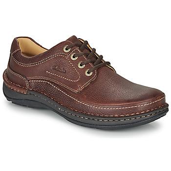 鞋子 男士 德比 Clarks 其乐 NATURE THREE 棕色