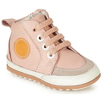 鞋子 女孩 短筒靴 Robeez MIGO 玫瑰色