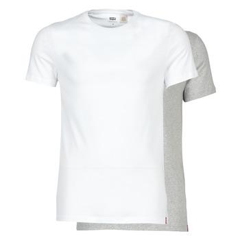衣服 男士 短袖體恤 Levi's 李維斯 SLIM 2PK CREWNECK 1 白色 / 灰色