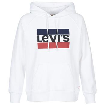 衣服 女士 衛衣 Levi's 李維斯 GRAPHIC SPORT HOODIE 白色