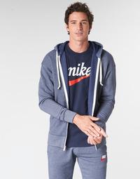 衣服 男士 卫衣 Nike 耐克 M NSW HERITAGE HOODIE FZ 海蓝色