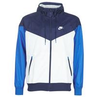 衣服 男士 冲锋衣 Nike 耐克 M NSW HE WR JKT HD 蓝色 / 白色