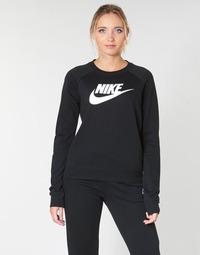 衣服 女士 卫衣 Nike 耐克 W NSW ESSNTL CREW FLC HBR 黑色