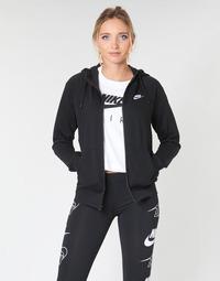 衣服 女士 卫衣 Nike 耐克 W NSW ESSNTL HOODIE FZ FLC 黑色