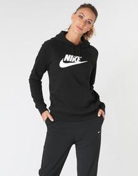 衣服 女士 卫衣 Nike 耐克 W NSW ESSNTL HOODIE PO  HBR 黑色