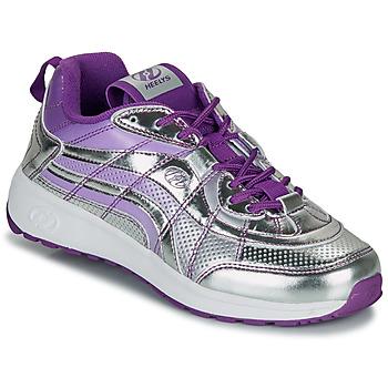 鞋子 女孩 轮滑鞋 Heelys NITRO 银灰色 / 紫罗兰