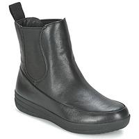 鞋子 女士 短筒靴 FitFlop FF-LUX CHELSEA BOOT 黑色
