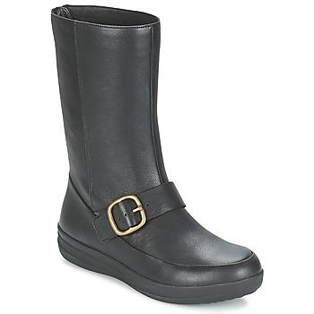鞋子 女士 短筒靴 FitFlop FF-LUX BIKER 黑色