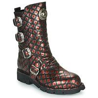 鞋子 女士 短筒靴 New Rock  黑色 / 紅色